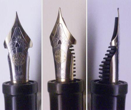 перьевая ручка Nakaya с полугибким пером
