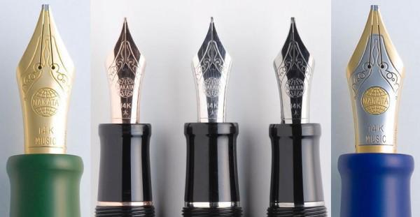 Варианты покрытий пера ручки Nakaya
