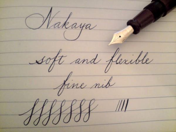 перьевая ручка Nakaya с тонко-мягким пером