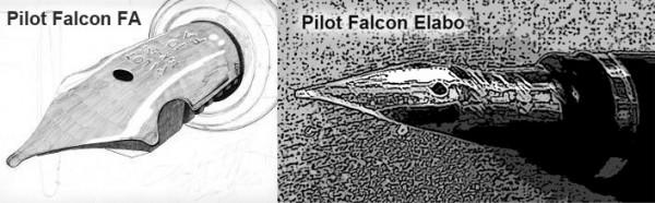перья Pilot Falcon и Pilot Falcon Elabo
